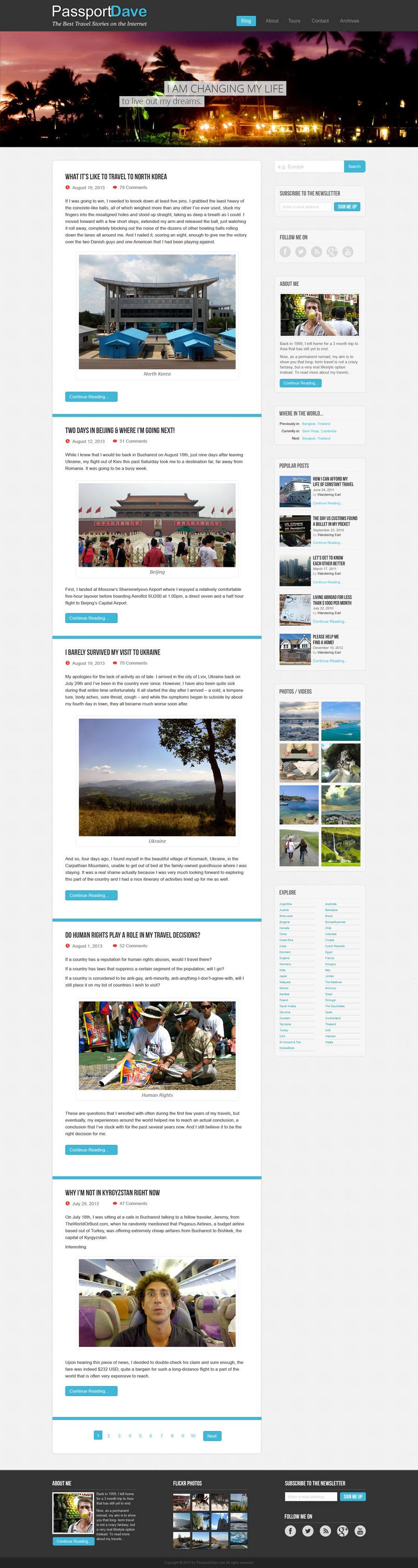 #17 for Design a Wordpress Site for Travel Blog by WordPressExpert4