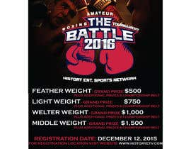#16 for Design a Flyer for my Boxing tournament Easy money! by CorneliaTeo
