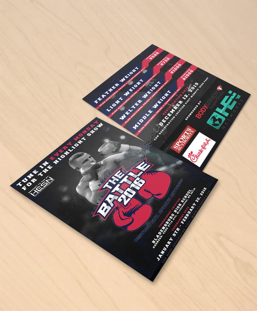 Contest Entry #                                        5                                      for                                         Design a Flyer for my Boxing tournament Easy money!