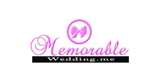 """Penyertaan Peraduan #46 untuk Design logo for """"Memorable Wedding.me"""""""