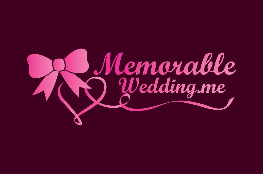 """Penyertaan Peraduan #35 untuk Design logo for """"Memorable Wedding.me"""""""