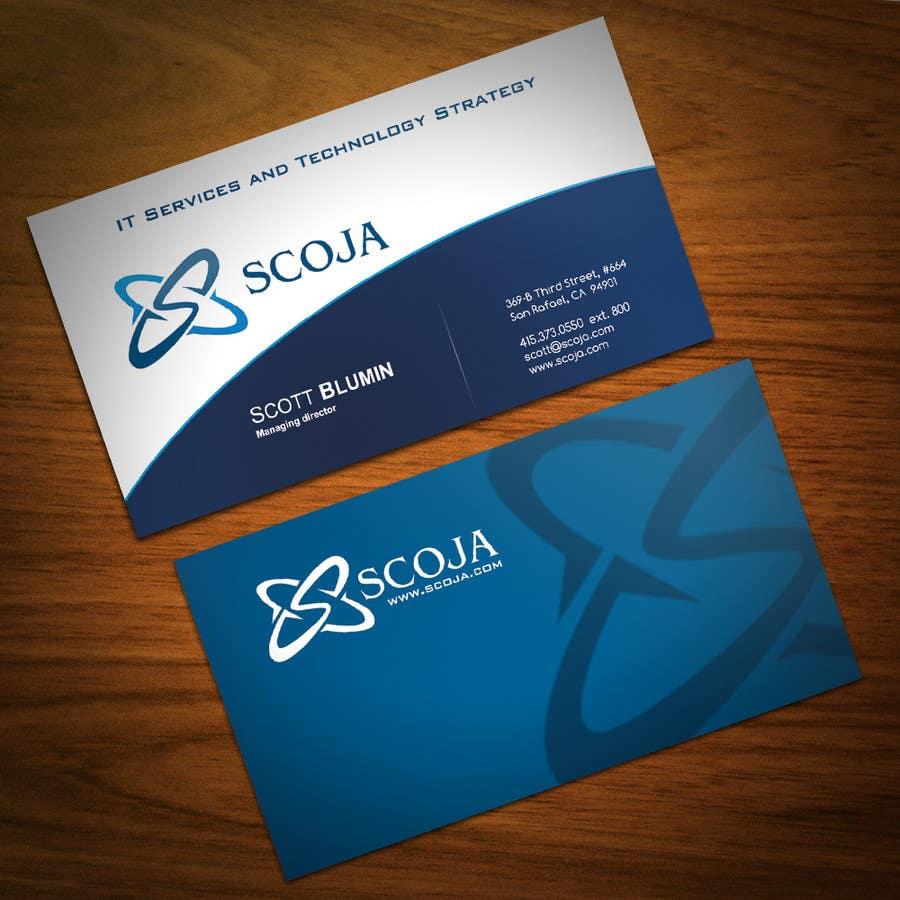 Bài tham dự cuộc thi #                                        348                                      cho                                         Business Card Design for SCOJA Technology Partners