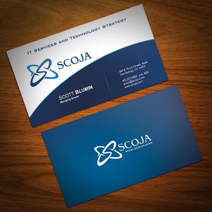 Bài tham dự cuộc thi #                                        350                                      cho                                         Business Card Design for SCOJA Technology Partners