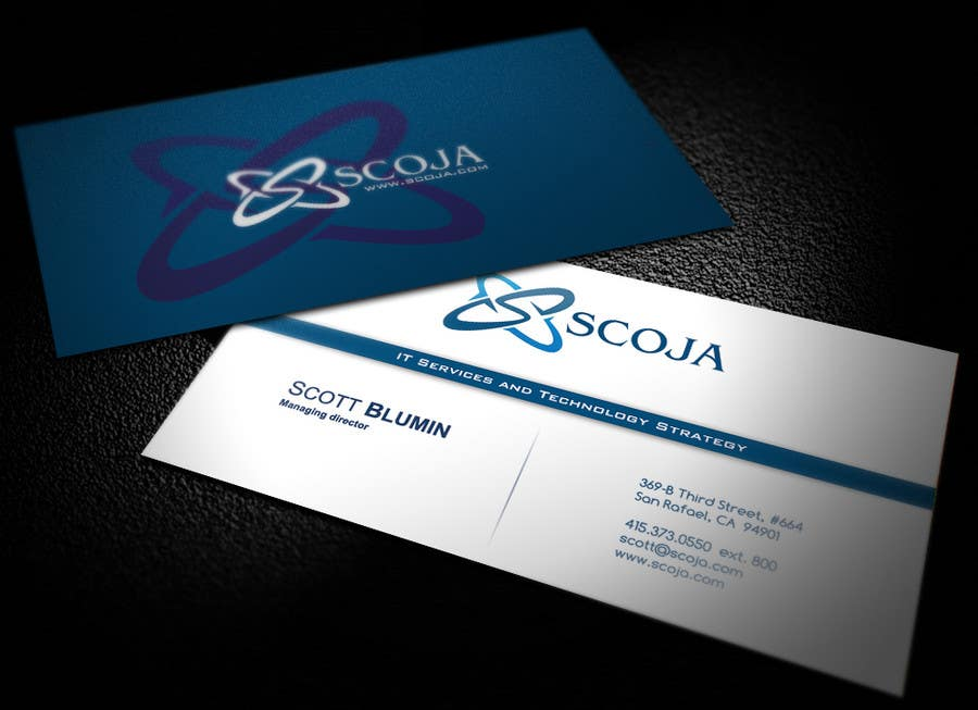 Bài tham dự cuộc thi #                                        314                                      cho                                         Business Card Design for SCOJA Technology Partners