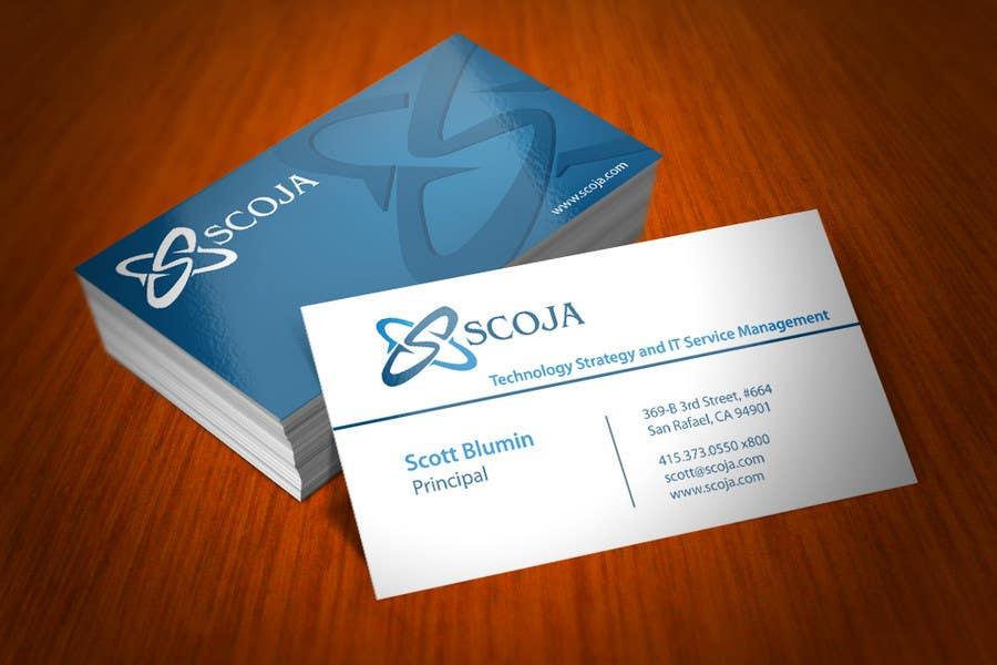 Konkurrenceindlæg #                                        300                                      for                                         Business Card Design for SCOJA Technology Partners
