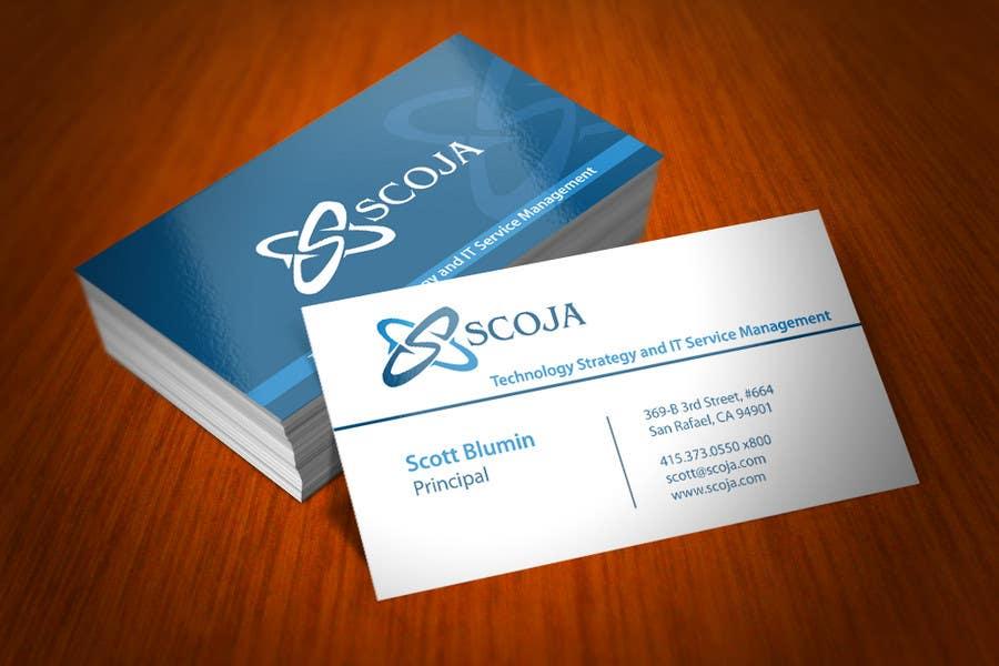 Konkurrenceindlæg #                                        298                                      for                                         Business Card Design for SCOJA Technology Partners