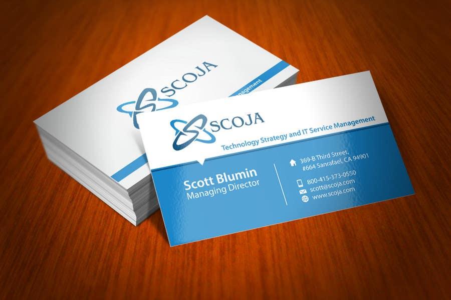 Konkurrenceindlæg #                                        145                                      for                                         Business Card Design for SCOJA Technology Partners