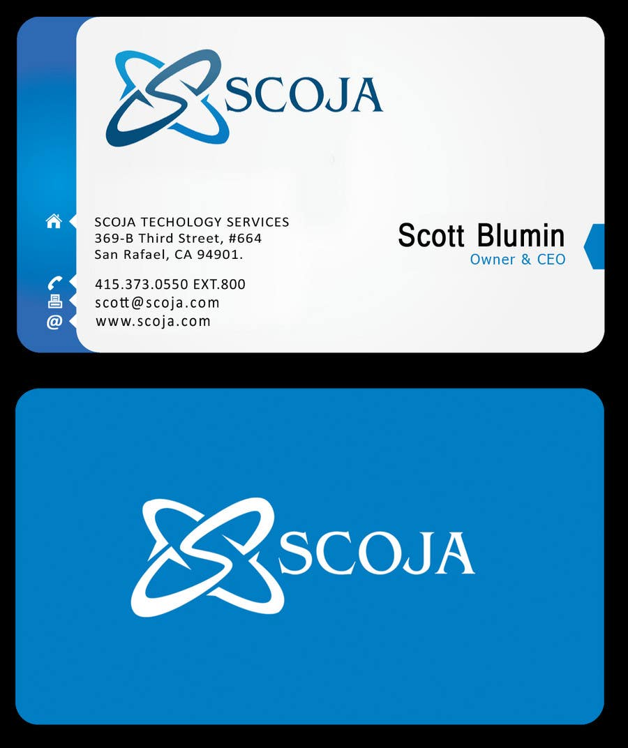 Konkurrenceindlæg #                                        290                                      for                                         Business Card Design for SCOJA Technology Partners