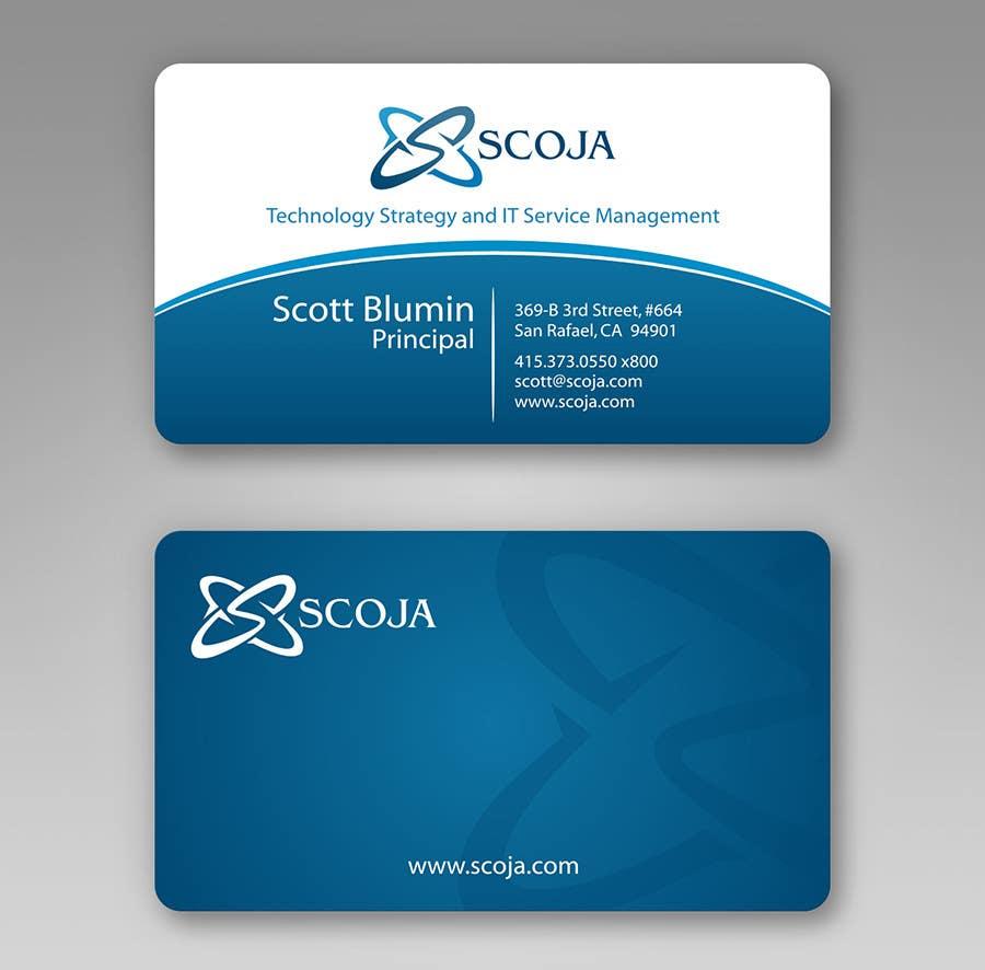 Bài tham dự cuộc thi #                                        311                                      cho                                         Business Card Design for SCOJA Technology Partners