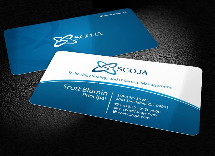 Bài tham dự cuộc thi #                                        275                                      cho                                         Business Card Design for SCOJA Technology Partners