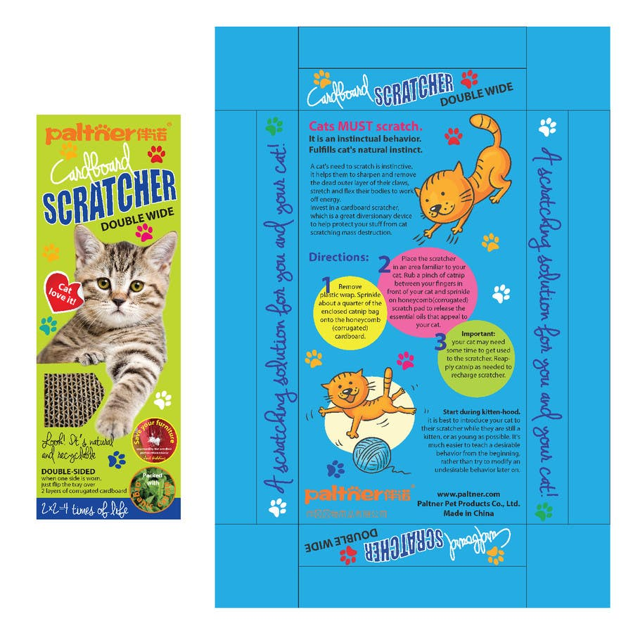 Inscrição nº 27 do Concurso para Create Print and Packaging Design-cat  scratcher box
