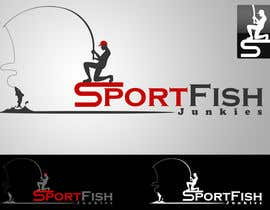 #53 untuk Logo Design For Sport Fish Junkies Website oleh KhalfiOussama