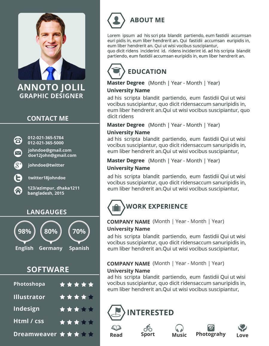 Latest Cv Format And Samples