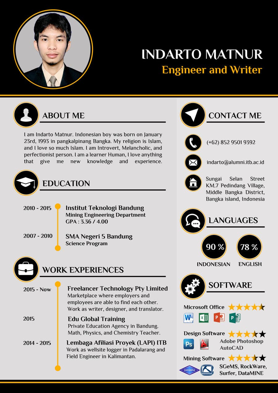 Superb Contest Entry #20 For New Look For My CV/Resume Throughout My New Resume