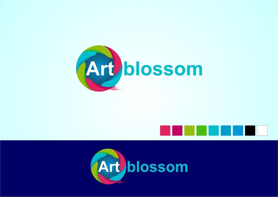 Logo for Russian graphic design company Art-blossom. için 12 numaralı Yarışma Girdisi
