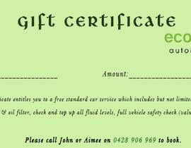 Nro 8 kilpailuun Design a gift certificate designed using supplied logo käyttäjältä adarshdk