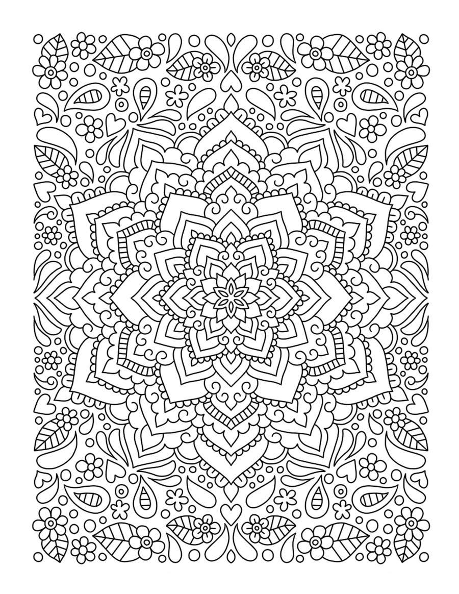 Stress relief coloring pages -  16 For Competition For Full Time Opportunity Creating Adult Coloring Pages By Chanelleurie