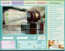 #9 untuk Home page design plus logo - legal site oleh dzsouma