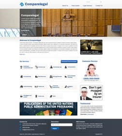 #3 for Home page design plus logo - legal site by nitinatom