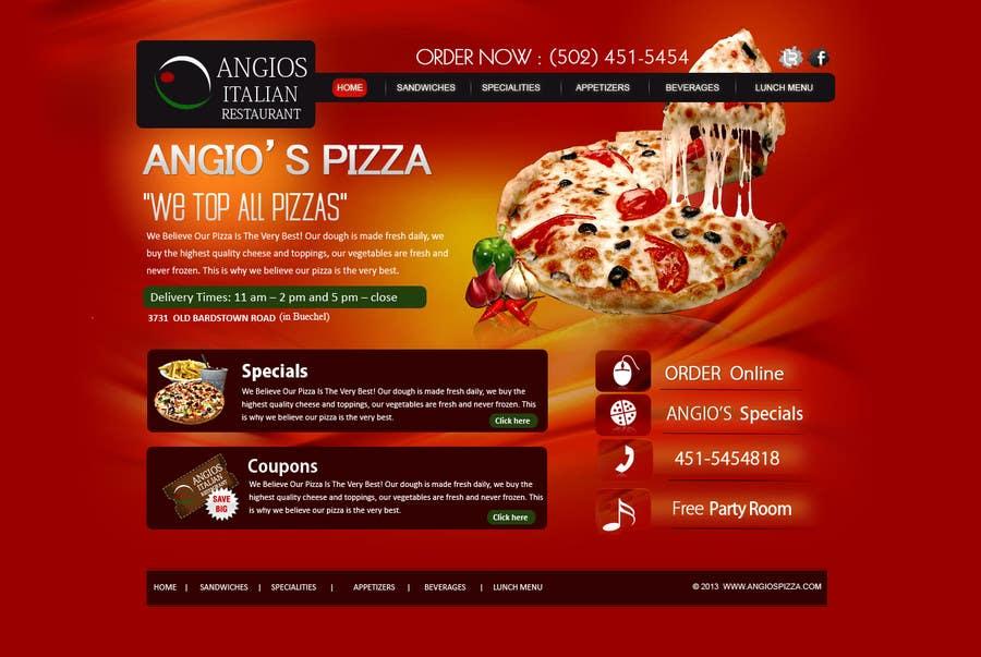 Italian Restaurant Logo With Flag: PSD For An Italian Pizza Restaurant Web Site.