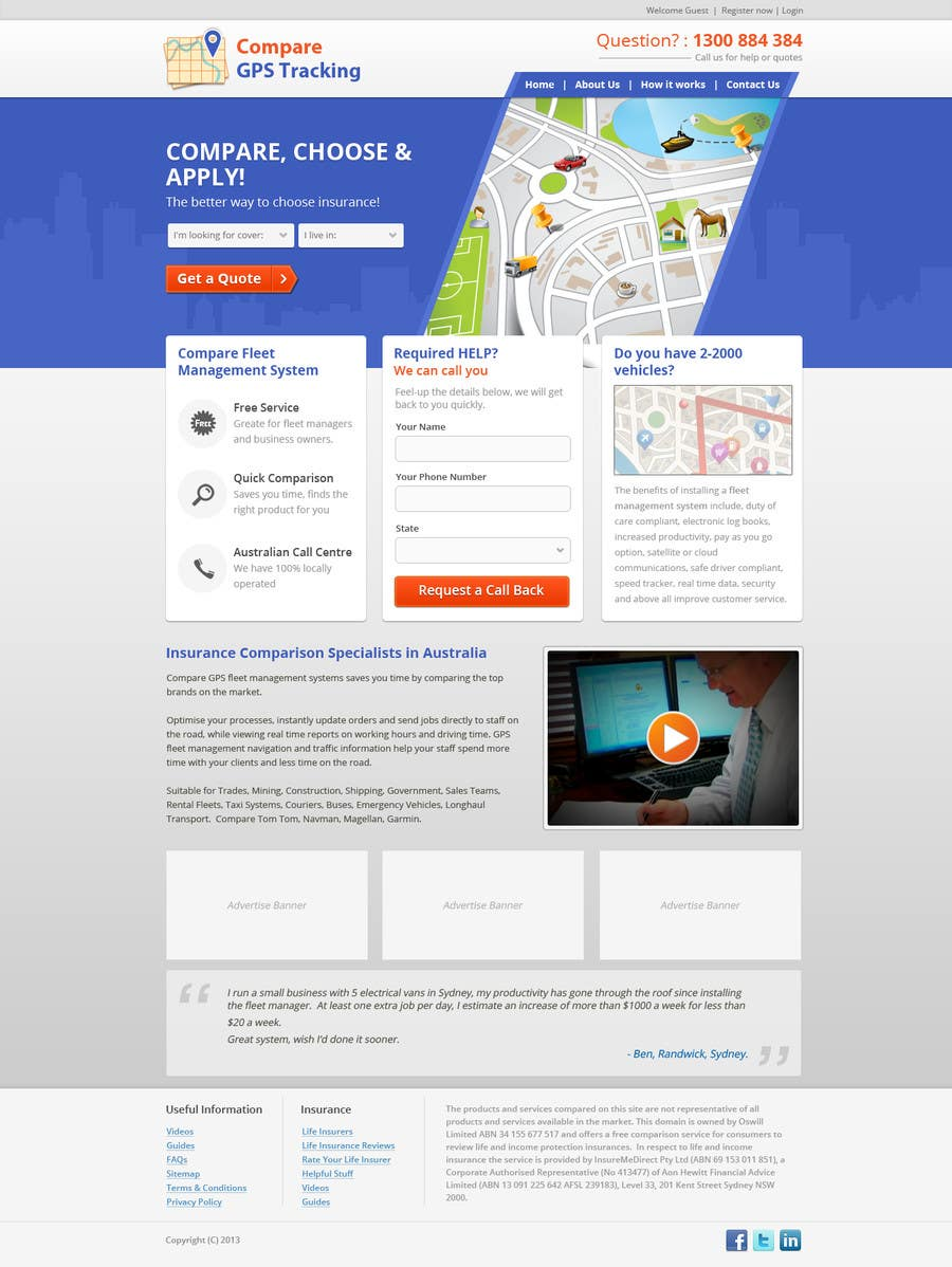 #4 for Home page design plus logo - GPS site by rainbowfeats