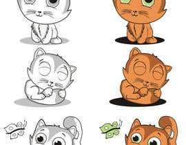 #6 for illustrate and design a cute cat in 3 different poses by aarpum18