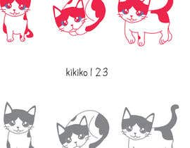 nº 3 pour illustrate and design a cute cat in 3 different poses par kikiko123