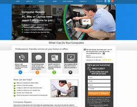 nº 20 pour Design a single Page Website with Logo for a PC repair service par MagicalDesigner