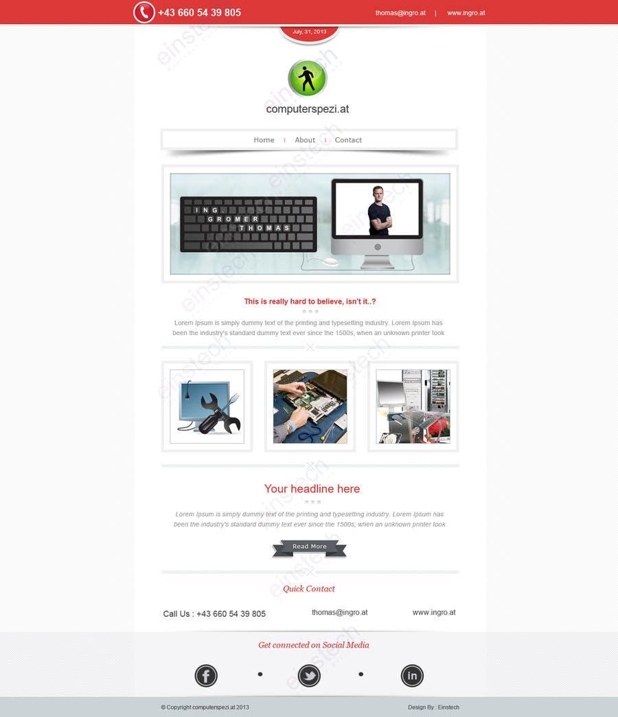 Penyertaan Peraduan #14 untuk Design a single Page Website with Logo for a PC repair service