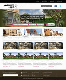 nº 7 pour Design a Website Mockup for a real estate website par kreativeminds