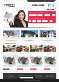 nº 12 pour Design a Website Mockup for a real estate website par kreativeminds