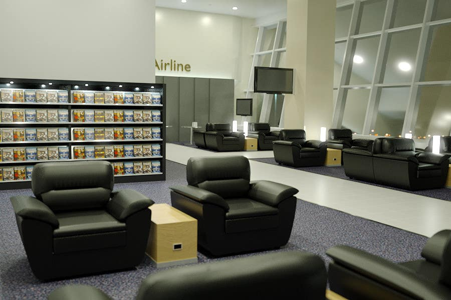 Contest Entry #26 for CGI Interior Design First Class Airline Lounge