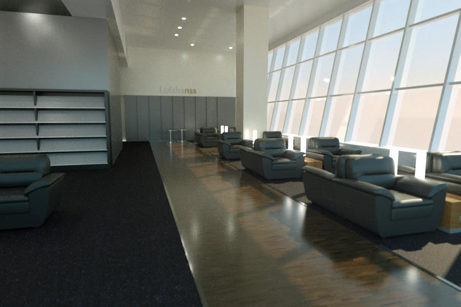 Contest Entry #                                        6                                      for                                         CGI Interior Design First Class Airline Lounge
