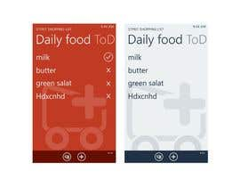 #39 para Metro / Modern GUI design (background) for a shopping list app por ezesol