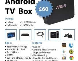 """Nro 1 kilpailuun Design a simple 4"""" x 6"""" Flyer for Android TV Boxes käyttäjältä ms471992"""