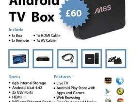 """Nro 6 kilpailuun Design a simple 4"""" x 6"""" Flyer for Android TV Boxes käyttäjältä ms471992"""