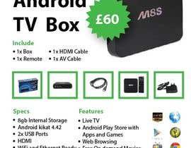 """Nro 7 kilpailuun Design a simple 4"""" x 6"""" Flyer for Android TV Boxes käyttäjältä ms471992"""