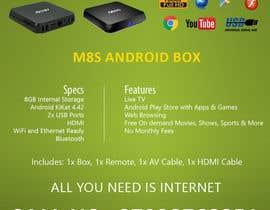 """Nro 11 kilpailuun Design a simple 4"""" x 6"""" Flyer for Android TV Boxes käyttäjältä BeeWorker"""