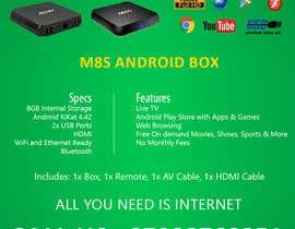 """Nro 12 kilpailuun Design a simple 4"""" x 6"""" Flyer for Android TV Boxes käyttäjältä BeeWorker"""