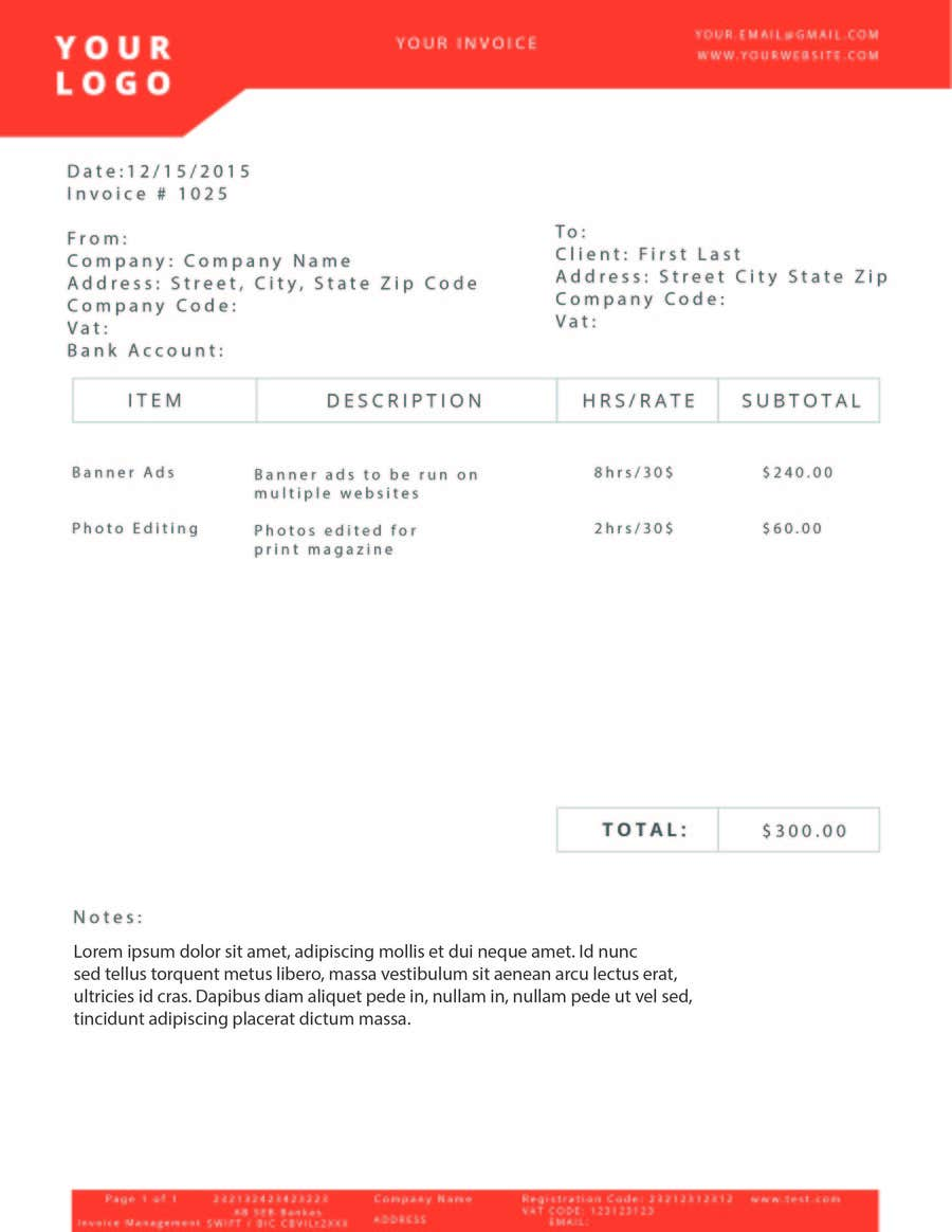 Entry #6 by accioweb for Need a PDF invoice design | Freelancer