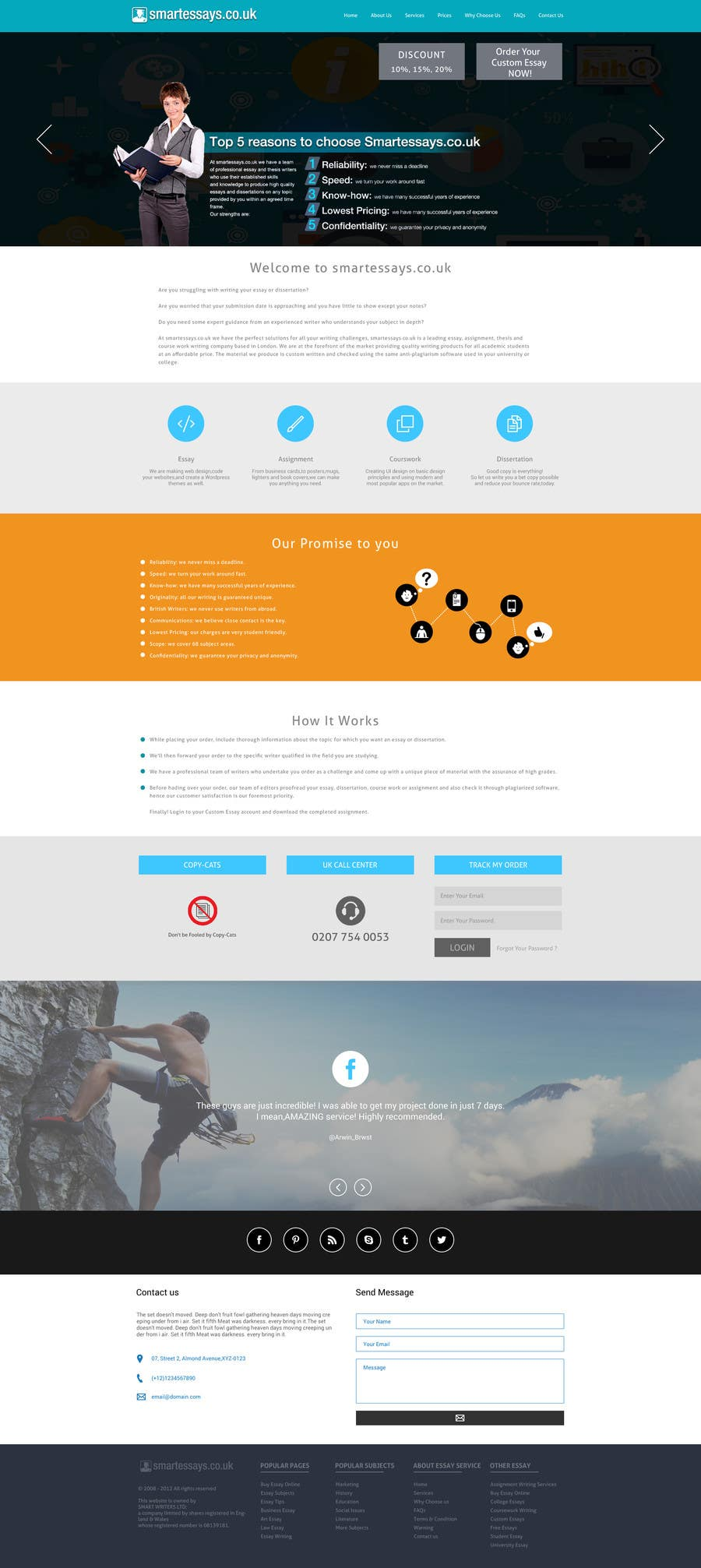 Entry #10 by arunkoshti for Design a Website Mockup and the