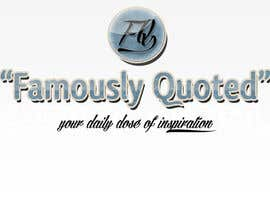 #24 para Design a Logo for Famously Quoted por GabrielaNastase