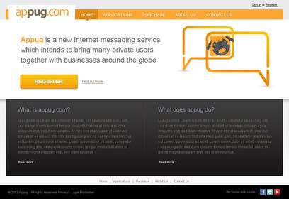 #4 para Website Design for Appug.com, a new online messaging service (generic web page). de tuanrobo