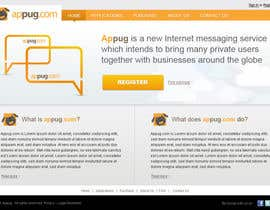 #23 para Website Design for Appug.com, a new online messaging service (generic web page). de tuanrobo