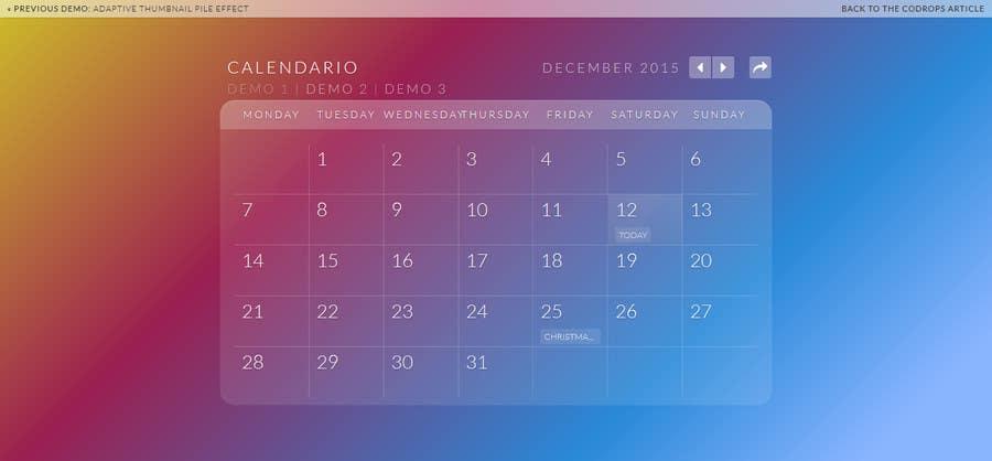 Gadget Calendario.Entry 5 By Huykon225 For Enhance Calendar Widget