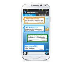 ganadev tarafından Freelancer Messenger Android App Mockup için no 7