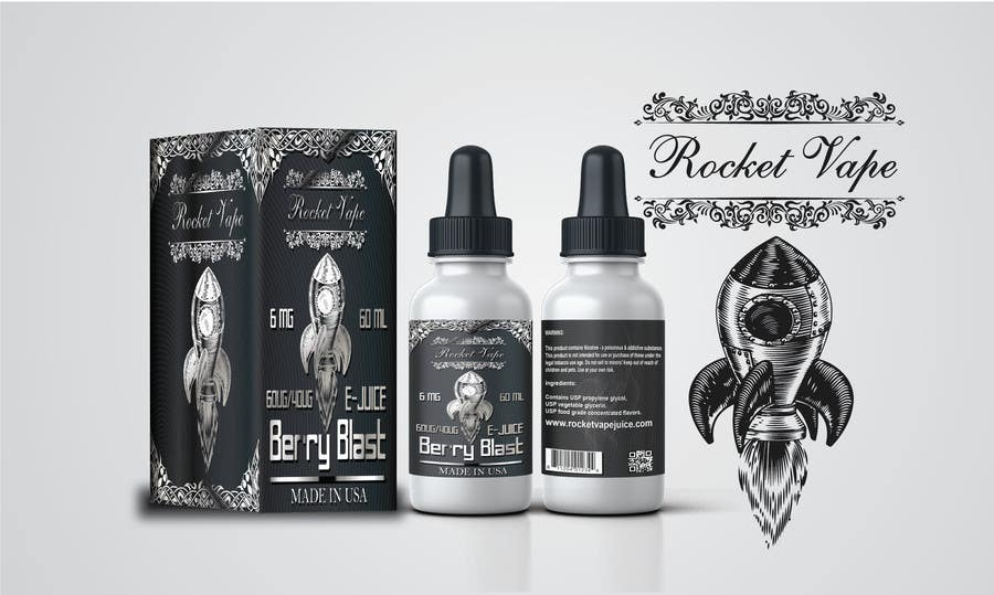 Entry #2 by cvijayanand2009 for Vape Juice LABEL Graphic