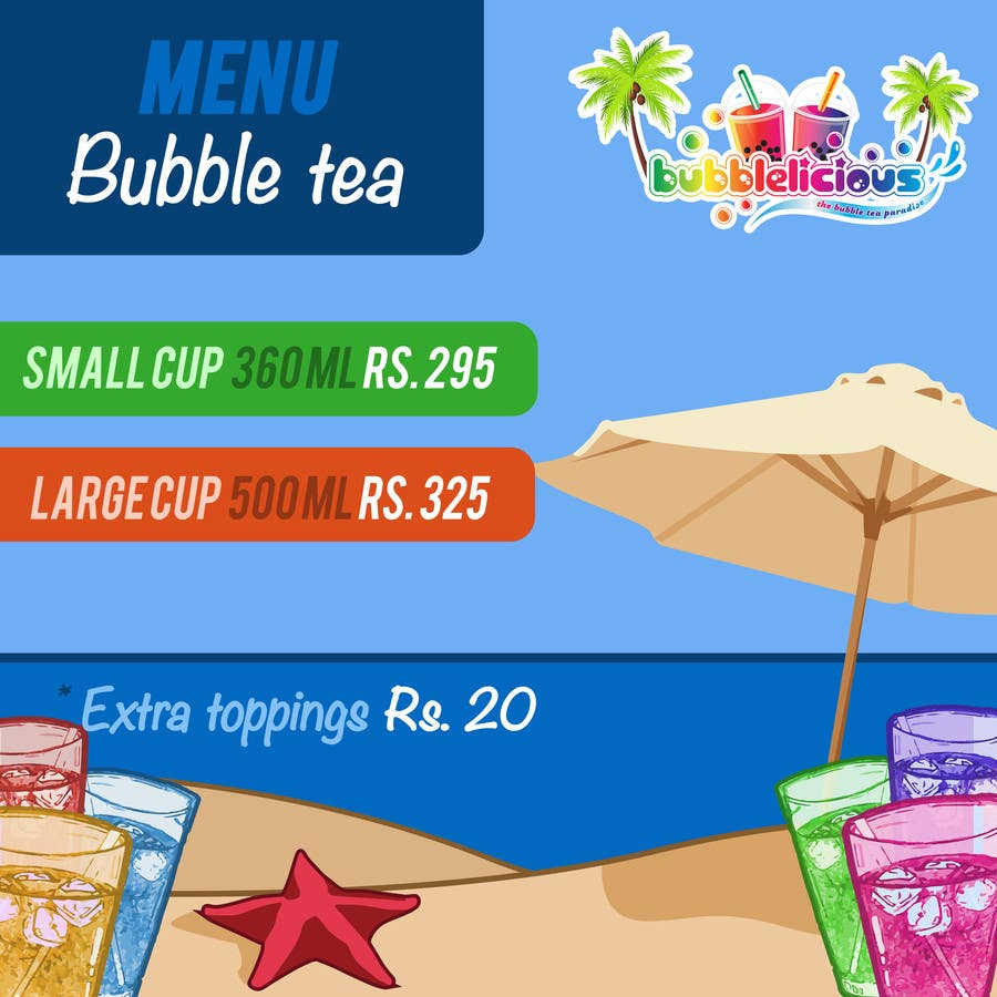 Proposition n°13 du concours I need some Graphic Designs for our Bubble Tea Company