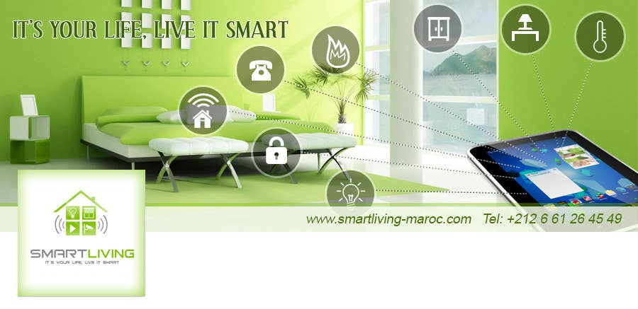 Contest Entry #28 for Design a banner for facebook/Website for home automation company