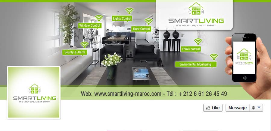Contest Entry #19 for Design a banner for facebook/Website for home automation company